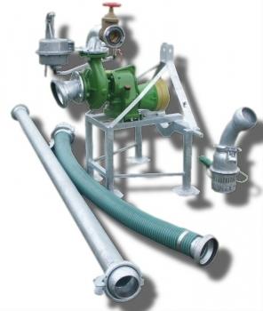 Pompownia T2-85 służy do pompowania wody z ujęć powierzchniowych takich jak stawy, jeziora, rzeki, zbiorniki itp.