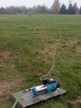 Podłączenie zraszacza przewodem o średnicy 20mm